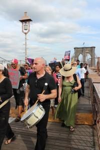 john pietaro, 802 band, Save Brooklyn Hospitals March, Aug 2013