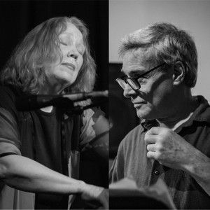 Steve Dalachinsky (photo by Peter Gannushkin) and Connie Crothers (photo by Ken Weiss)