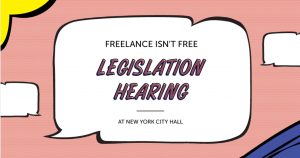 Freelancers Union Legislation Hearing logo