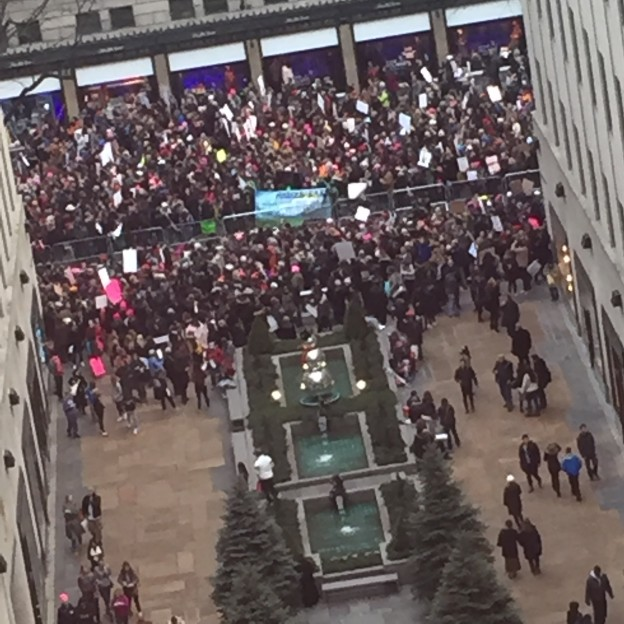 Womens March Jan 2017 Rockerfeller Center