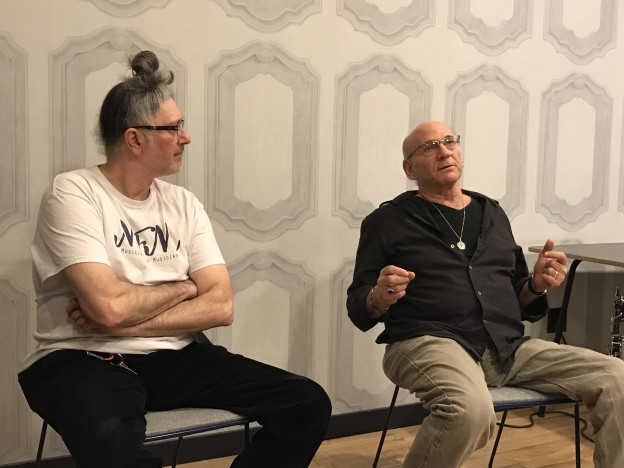 David Liebman and Sohrab At MFM Talk Series #1